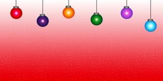 Bunte Weihnachtskugeln stockfotos
