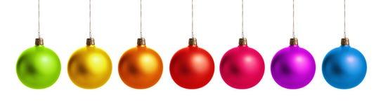 Bunte Weihnachtskugeln Lizenzfreies Stockfoto