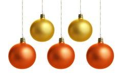 Bunte Weihnachtskugeln Lizenzfreie Abbildung