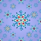 Bunte Weihnachtsschneeflocken, nahtloses Muster des Dreiecks, Vektorverzierungen Stockfotos