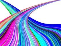 Bunte Welle streift Hintergrund Stock Abbildung
