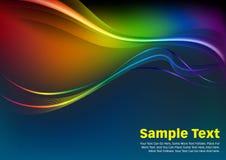 Bunte Wellen und Linien Vektor-Hintergrund Lizenzfreie Stockfotos
