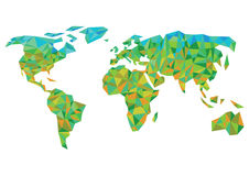 Bunte Weltkarte Lizenzfreie Stockbilder