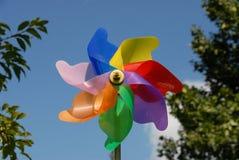 Bunte Windmühle Stockbilder