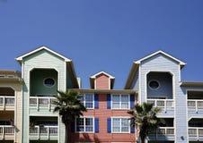Bunte Wohnungen (Eigentumswohnung) Stockfotos