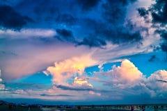 Bunte Wolke stockbild