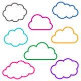 Bunte Wolke umreißt Sammlung Stockbilder