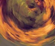 Bunte Wolken zerstreut auf Hintergrund Farbspritzen Naturlandschaftsgrafik Horizontansicht Gewellte Tapete Farbexplosion lizenzfreie abbildung