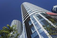 Bunte Wolkenkratzer in SOHO Sanlitun, Peking, China Stockfotos
