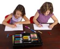 Bunte Zeichnungen Lizenzfreies Stockbild
