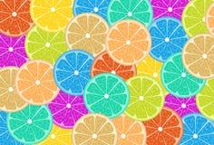 Bunte Zitronenscheiben Lizenzfreies Stockfoto