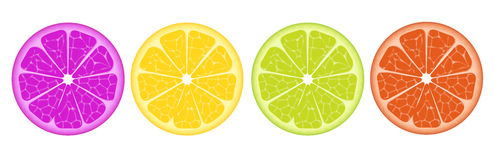 Bunte Zitronenscheiben Lizenzfreie Stockfotografie