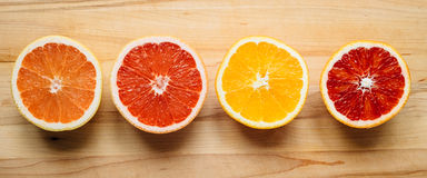 Bunte Zitrusfrucht von oben Lizenzfreies Stockbild