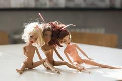 Bunte Zusammensetzung mit Barbie-Puppen Lizenzfreie Stockbilder