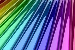 Bunte Zylinder 3D Lizenzfreies Stockbild