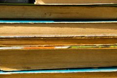 Bunten av det gammalt bokar Arkivbilder