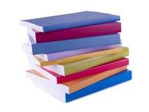 Bunten av färgrikt bokar Arkivbild