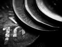 Bunten av myntar Arkivfoto