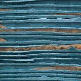 Bunten av plattor för offentligt sköta om av blå papp vadderade kraft papper arkivfoto