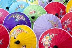 Bunten Regenschirmes Lizenzfreies Stockfoto