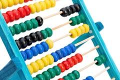 Bunter Abakus für das Handeln von Berechnungen. Stockbild