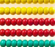 Bunter Abakus für Mathe, das als Hintergrund lernt Stockfotos