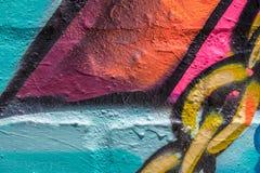 Bunter Abschluss herauf Graffiti Lizenzfreie Stockfotografie