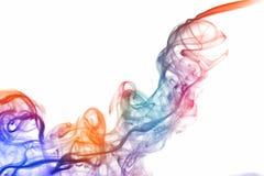 Bunter abstracr Rauch lokalisiert auf weißem Hintergrund Lizenzfreie Stockfotografie
