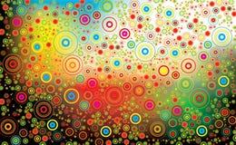 Bunter abstrakter Blumenhintergrund Lizenzfreies Stockbild