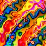 Bunter abstrakter chaotischer Hintergrund Roter blauer gelber kreativer Art Illustration Eindeutige Auslegung Unregelmäßige Schmu Stockbild