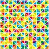Bunter abstrakter geometrischer Hintergrund Stockfotos