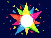 Bunter abstrakter geometrischer Hintergrund Stockfoto
