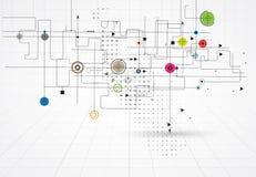 Bunter abstrakter geometrischer Hintergrund für Design Stockfoto