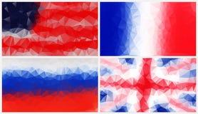 Bunter abstrakter geometrischer Hintergrund mit dreieckigen Polygonen Lizenzfreies Stockfoto