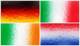 Bunter abstrakter geometrischer Hintergrund mit dreieckigen Polygonen Lizenzfreie Stockbilder