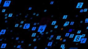 Bunter abstrakter Hintergrund Digitaler Code der großen Daten stock video