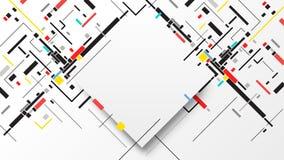 Bunter abstrakter Hintergrund geometrischer Elemente Digital Stockbilder