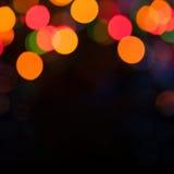 Bunter abstrakter Hintergrund mit bokeh Lichtern Lizenzfreie Stockbilder