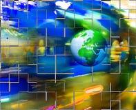 Bunter abstrakter Hintergrund mit Erde Stockfotografie