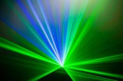 Bunter abstrakter Laserlight-Hintergrund mit Raum für Text oder Stockbild