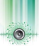 Bunter abstrakter Musikhintergrund Lizenzfreie Stockfotos