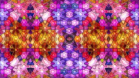 Bunter abstrakter nahtloser Schleifenzyklus des Farbmusikmosaik Kaleidoskopvideos 3D stock video
