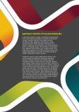 Bunter abstrakter Retro- vektorhintergrund Lizenzfreies Stockbild