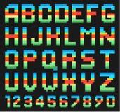 Bunter Alphabetsatz Stockbild