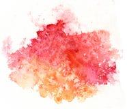 Bunter Aquarellspritzen-Weißhintergrund Stockbild