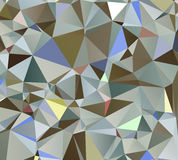 Bunter Auszug dreieckiges geometrisches Stockfotografie
