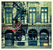 Bunter Balkon Stockfotografie