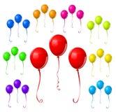 Bunter Ballon-Satz Lizenzfreies Stockfoto