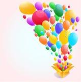 Bunter Ballon-Zusammenfassungshintergrund Stockfotografie