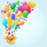 Bunter Ballon-Zusammenfassungshintergrund Lizenzfreie Stockfotos